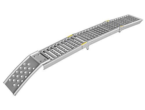 LAS 10607 Auffahrrampe klappbar aus Stahl, Silver