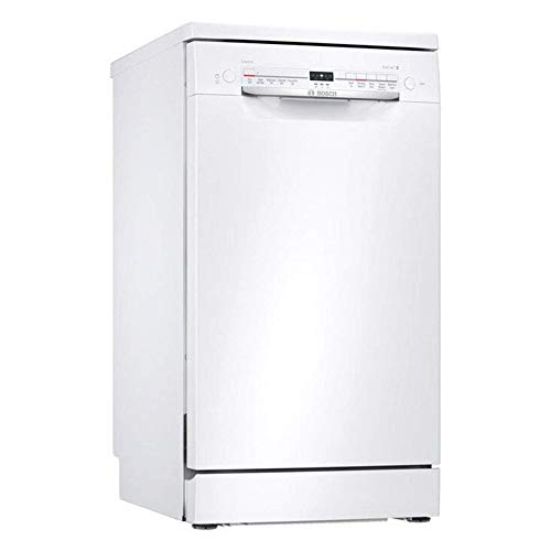 Bosch SPS2IKW04G Serie 2 Slimline Freestanding Home Connect Dishwasher, 9 place settings, 45cm wide - White