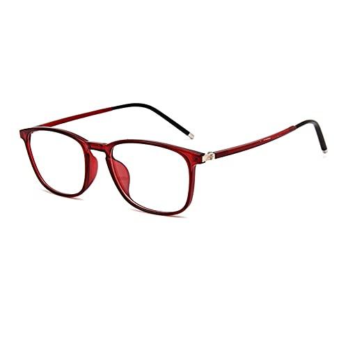 EYEphd Gafas de Lectura de luz Anti-Azul Ultra-Light TR90, 1.56 Lente de Resina asférica de Las Gafas de la computadora Ampliación +1.0 a +3.0,03,+1.0