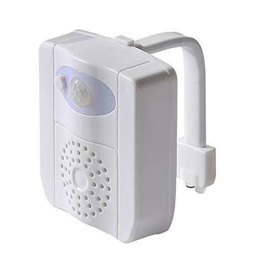Gobesty LED toilettenlicht, Rantizon LED Toilette Nachtlicht mit UV-Desinfektion Licht, WC Licht mit Bewegungsmelder und Wasserdicht, 16 Farbe Veränderung und 2 Aromatherapie Stück