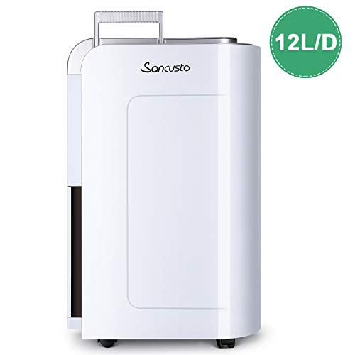 Sancusto® - 12L/Día Deshumidificador Digital, 12L/D hasta