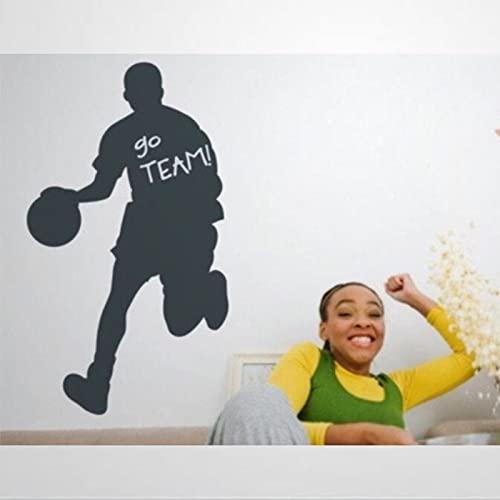 Calcomanía para pared de baloncesto con pizarra, para habitación de niños, pizarra extraíble, para decoración de pared, decoración del hogar bw273