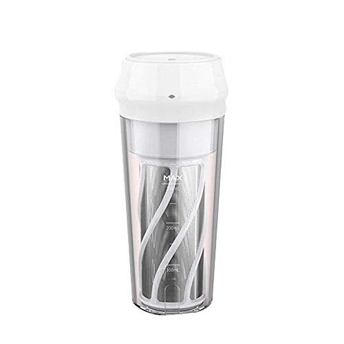 Mini Juicer Mini Juicer automático USB Cargando Pequeño residuo de fruta Separación de jugo que acompaña Taza de jugo con filtro Adecuado para deportes de oficina en el hogar Camping al aire libre (ro