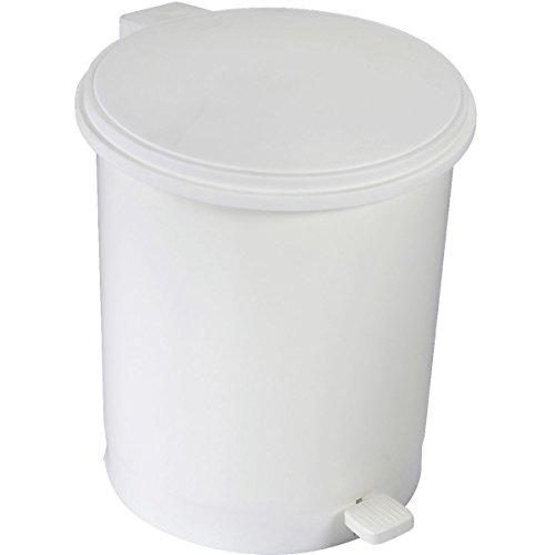 HEXOTOL ABS-Pattumiera a Pedale in plastica, Colore: Crema, Crema, 35x29x35 cm