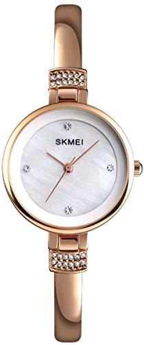 JSL Reloj de aleación para señoras de diamantes simple y elegante reloj pequeño exquisito y hermoso-Rosegold-Rosegold