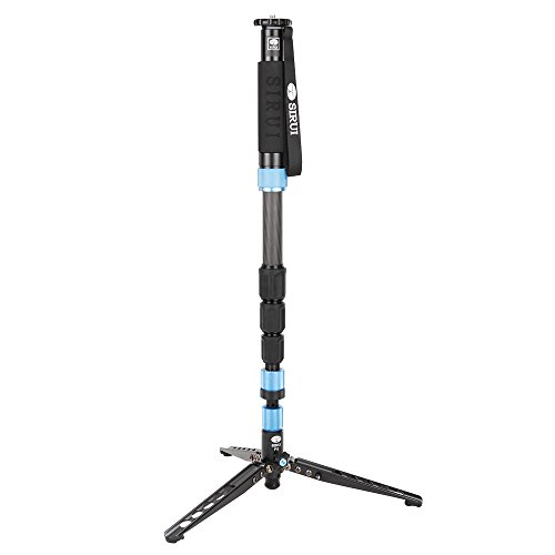 "Sirui 6952060001753 P-424SR Carbon Fiber Photo/Video Monopod, Extends to 75"", Supports 26.5 lb, Gray"