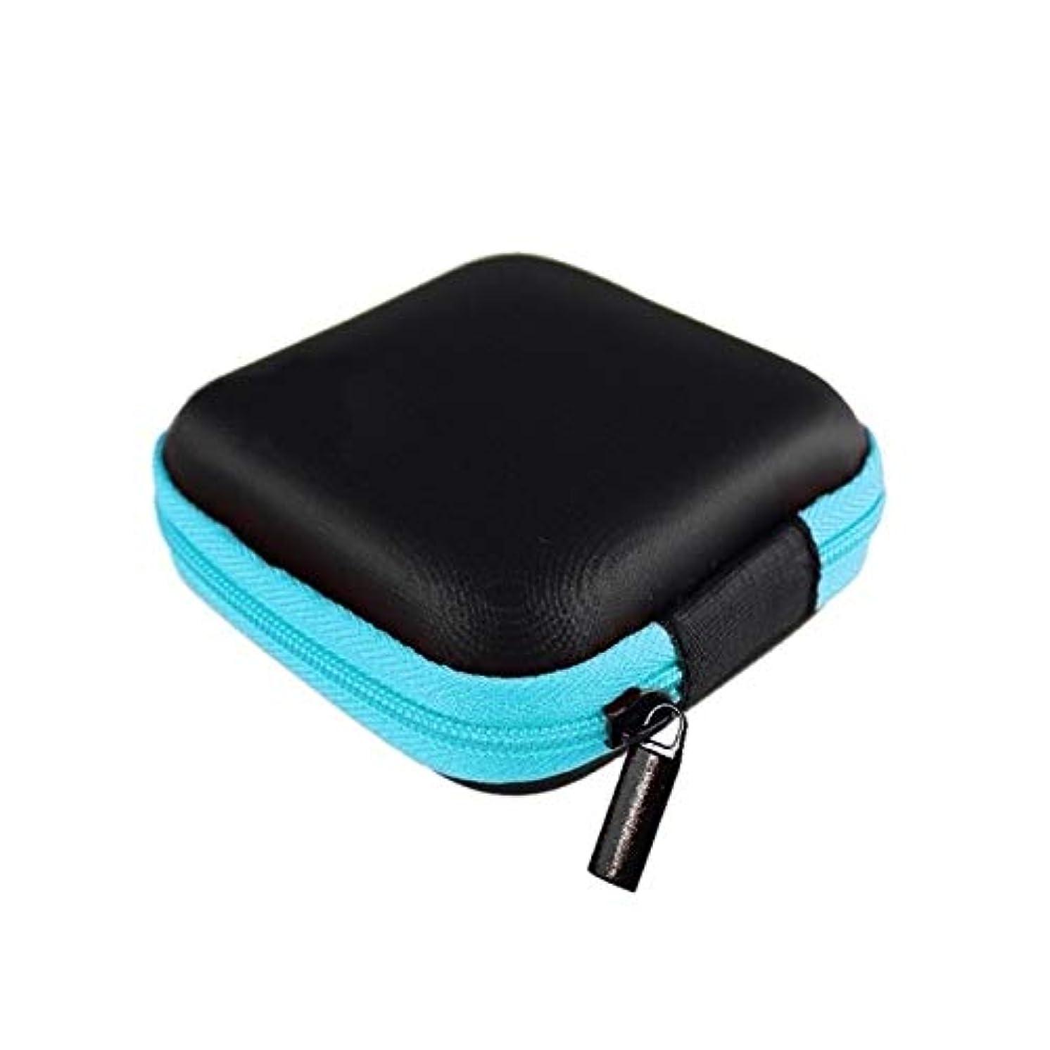 Square Earphone Wire Organizer Box Data Line Cables Storage Box Case Container Coin Headphone Protective Box 8cm
