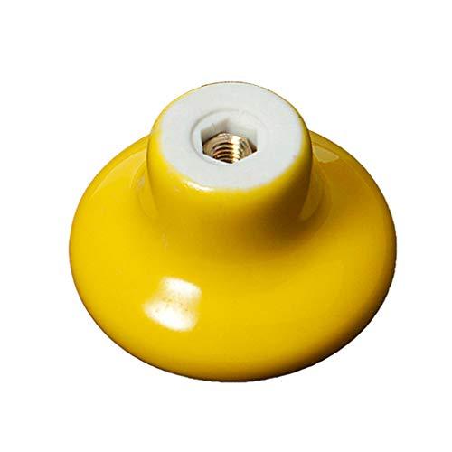 Fornateu 10pcs / Set Couleur aléatoire 38mm Ronde en céramique Boutons de Porte Armoire Armoire à tiroirs Meubles Poignée Fixe