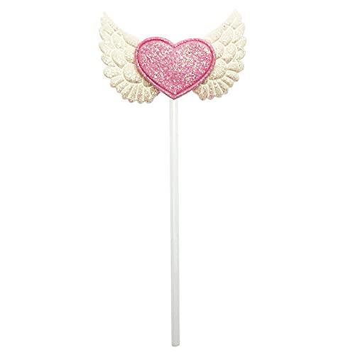 Décoration de gâteau licorne dorée ailes d'amour, gâteau d'anniversaire, mariage, fête de famille, gâteau de dessert (couleur : ailes blanches)