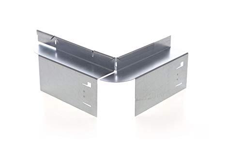 HN Kernstützen Metallwaren Ecke Innen/Außen für Rasenkante mit Radlauf Metall 9,5 cm hoch Mähkante Beeteinfassung Beetumrandung, Set:4er Set, Ecken:außen Ecke
