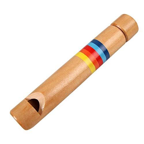 Pequeños silbidos de Madera más Finos silbatos de Dibujo diacrítico Deslizante Piccolo Instrumento Musical Juguete Silbato Juguetes clásicos, Piccolo