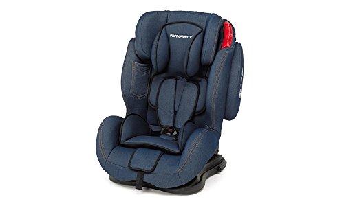 Foppapedretti Dinamyk 9-36 Seggiolino Auto, Blu Jeans, Gruppo 1/2/3 (9-36 Kg) per Bambini da 9 mesi a 12 anni circa