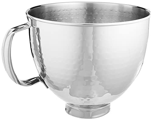 KitchenAid KSM5SSBHM Hammered Stainless Steel Stand Mixer Bowl, 5...