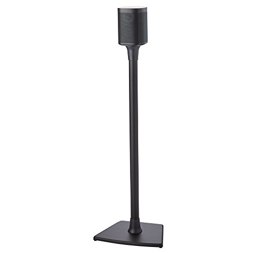 Sanus Wireless Sonos Speaker Stand for Sonos One, PLAY:1, & PLAY:3 - Audio-Enhancing Design With Built-In Cable Management - Single Stand (Black) - WSS21-B1