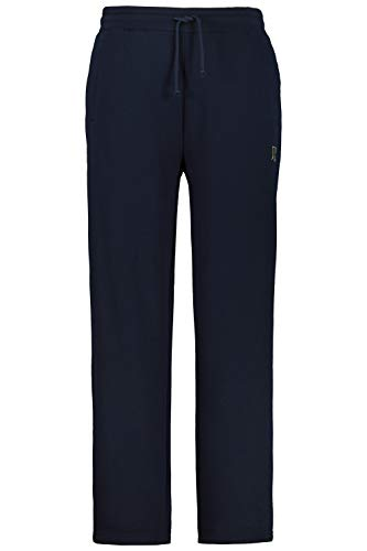 JP 1880 Herren große Größen bis 8XL, Jogginghose, Hose mit elastischem Bund und Saum, 2 Eingrifftaschen, gerade geschnitten Navy 5XL 702635 70-5XL