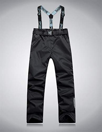 JSFAS Tuta da Sci 2020 Nuovo Addensare Caldo Antivento Invernale Donna Snowboard Set Giacca da Sci e Pantaloni Tuta Abbigliamento da Sci Femminile Tuta da Sci da Neve Impermeabile, Pantalone, Nero, s