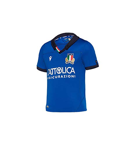 Macron Trikot Rugby Italien Kinder Replica 2019/2020 Gr. L, blau