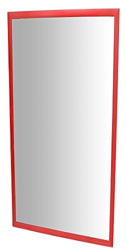 Henbea- Espejo Infantil acrílico con Marco de Madera, Color Rojo, 120x50 cms...