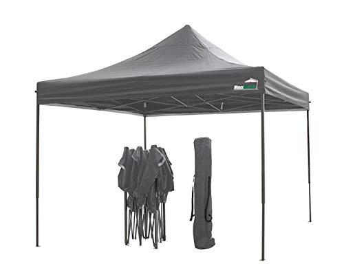 MaxxGarden Pavillon 3x3m - wasserdicht - Pop-Up - inkl. Tasche - UV-Schutz 50+ - Faltpavillon Gartenzelt Partyzelt - grau - Farbauswahl