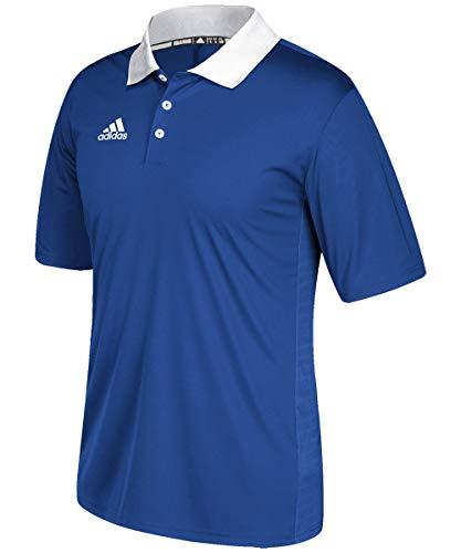 adidas Game Built Coaches Polo - Collegiate Royal/White - Large