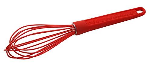 Dr. Oetker Batidor Varillas 25Cm, Silicona, rojo