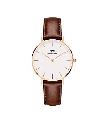 Daniel Wellington Petite St Mawes, Braun/Roségold Uhr, 28mm, Leder, für Damen