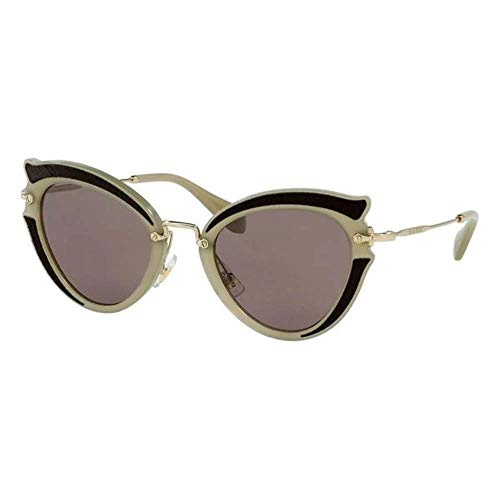 miu miu 0Mu05Ss Vhy6X1 52 Occhiali da Sole, Marrone (Brown/Brown Purple), Donna