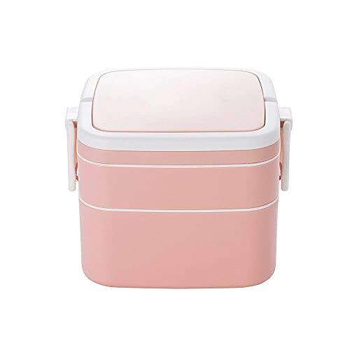 BGH Desayuno Almuerzo Cena Caja de Cena Comida Estudiante Trabajo de Estudiante Caja de Comedor Microondas Horno Calefacción Caja de Almuerzo Viajes Caja de Almuerzo Plata (Color : Pink)