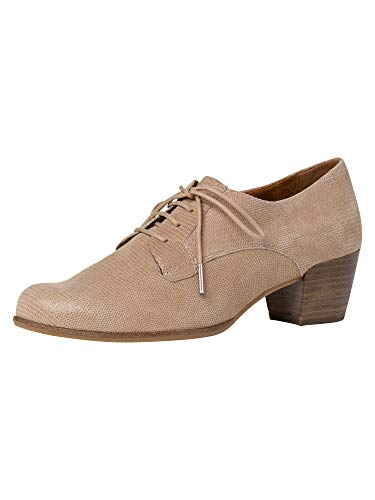 Tamaris 1-1-23305-24, Zapatos de Cordones Derby Mujer, Beige (Beige Struct. 486), 41 EU