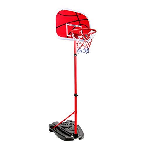 MYHZH Aro De Baloncesto Portátil, Soporte del Baloncesto De Altura Ajustable con Tablero Trasero De Plástico, Bola Neta para Los Niños, Juegos para Los Jóvenes