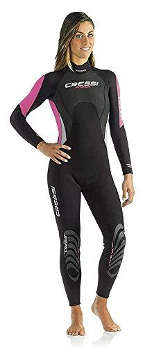 Cressi Morea Damen - Neoprenanzug 3mm für alle Wassersportarten, Schwarz/Pink, M/3