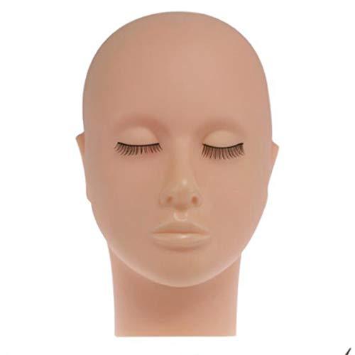 Moligh doll Mannequin Pratique dans Silicone à Tête Plate Extensions de Faux Cils Maquillage Modèle de Formation de Massage