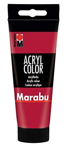 Marabu 12010050032 - Acryl Color karminrot 100 ml