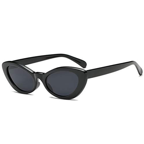 IJEWALRY Gafas De Sol De Mujer,Cute Ladies Cat Eye Sunglasses Women Vintage 90S Small Platic Sun Glasses Oval Mirrored Eyewear Female Shade Gafas De Sol para Deportes Al Aire Libre, Conducción,