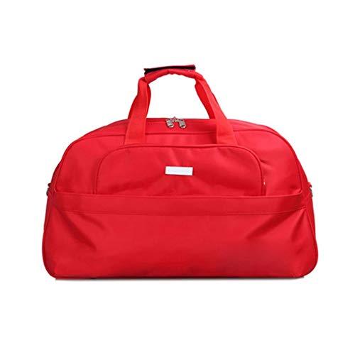 UNICODEHAPPY Bolsa de Deporte Deportiva Bolsa de Viaje con Bolsa de Viaje Plegable Bolsa de Viaje Deportiva Bolsa de Deporte Ligera (Color : Red)