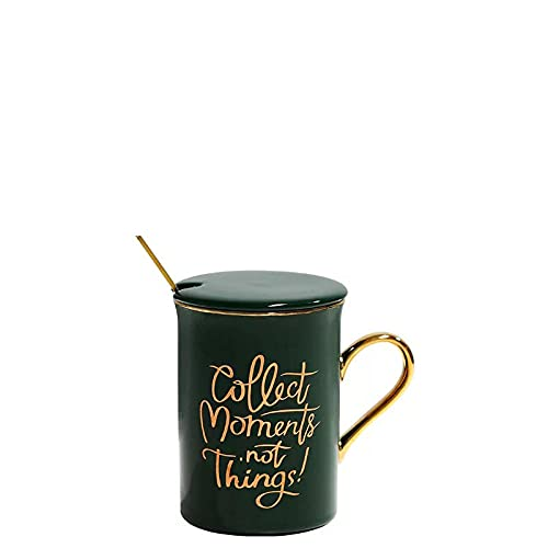 Tazas de café,taza de cerámica creativa europea 300ml del desayuno de la taza-A