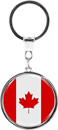 metALUm | Schlüsselanhänger Rund Metall Flagge Kanada - 6610011