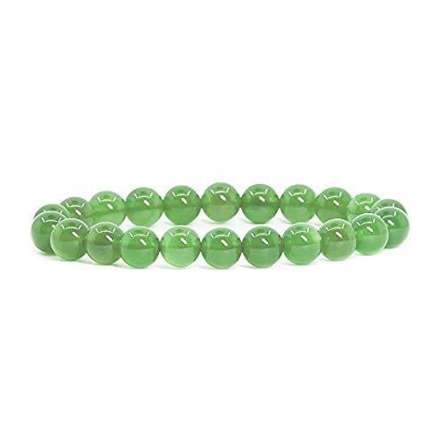 Ancient Wisdom Kraft - Power - Chakra Armbänder/Dehnbar / 8mm Naturstein - Für Ihr Wohlbefinden - Jade