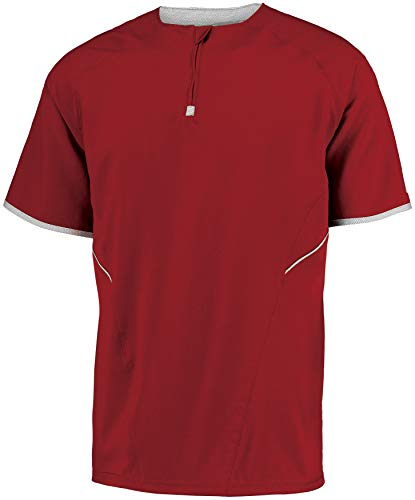 Russell Athletic Youth Short Sleeve Pullover Red/White Medium