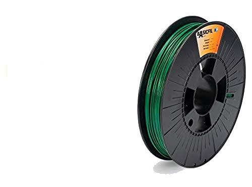 Basicfil PLA 1.75mm, 500 gr Filamento de Impresión 3D, Verde