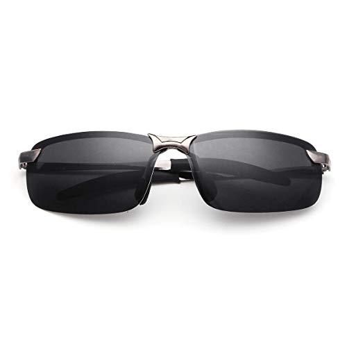 Yi-xir diseño Clasico Gafas de Sol Gafas polarizadas Drive Sport Sport Sport Fishing Gafas para Hombre Moda (Color : Gun+Gray)