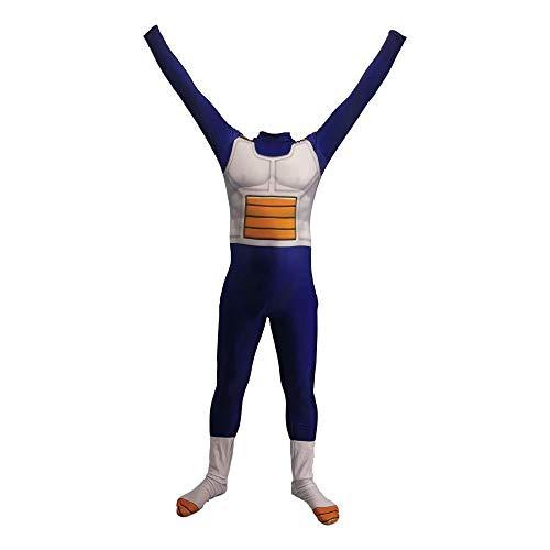 Lycra Siamese Tights Weihnachten Halloween Kostüm Für For Dragon Ball Z Super Saiyajin Vegeta Anime Kostüm,Kid-Large