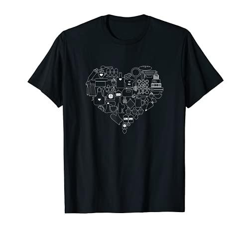 Ustensiles de pâtisserie en forme de cœur T-Shirt