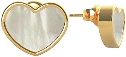 حلق بريمة صغير ستانلس ستيل شكل قلب للنساء من جيس UBE79019 - ذهبي