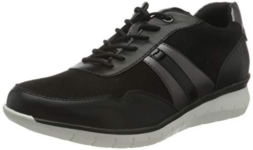 Tamaris Damen 1-1-23762-26 Sneaker, Sneaker, black/pewter, 39 EU