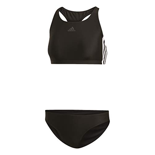 Adidas Fitness 3 Stripes Bikini, Swimwear Donna, Black, 48