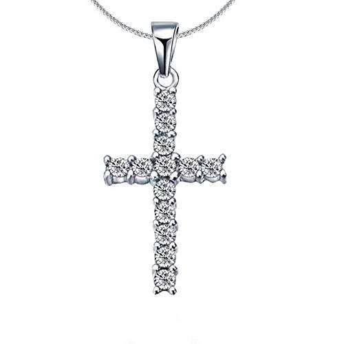 Collares Joyería Colgantes Moda Mujer Cruz Colgantes Diamantes De Imitación Cristal Jesús Cruz Colgante Collar para Hombres Mujeres Joyería Regalos