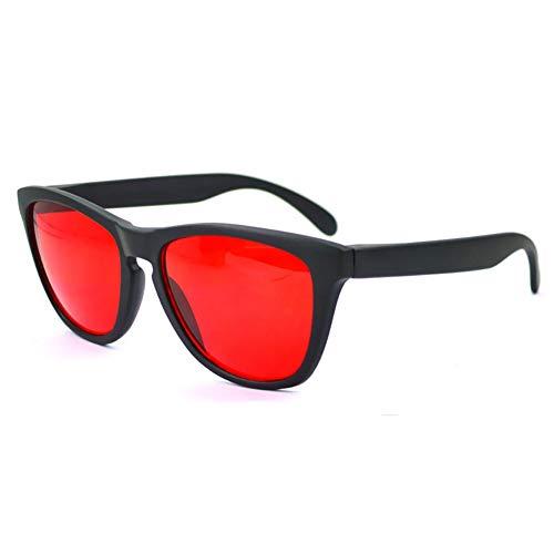 SMYJNB Farbenblind Brillen Brillen Korrigierende Männer Frauen Farbe Blindheit Brille Fahrer Verkehr Für Rot - Grüne Korrigierende Schwarzer Rahmen