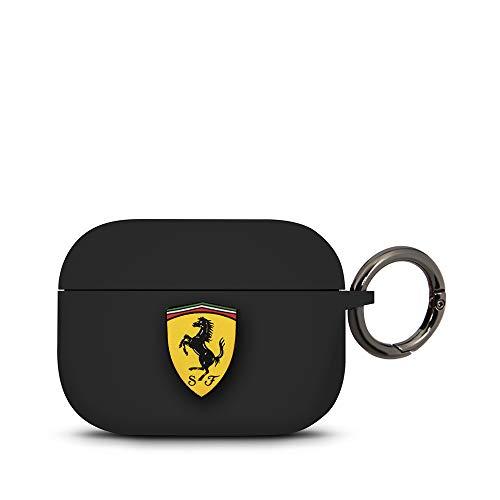 CG MOBILE Ferrari FEACAPSILGLBK - Carcasa de Silicona para Apple Airpod Pro, Color Negro