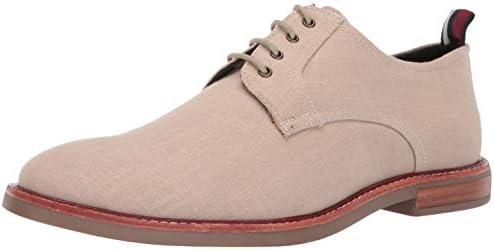 Ben Sherman Mens Brent Plain Toe Natural Linen Oxford Dress Shoe Size 9 product image